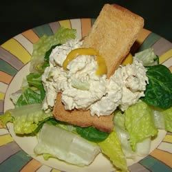 Great Chicken Salad Recipe -  Two things are great about this chicken salad. - the texture and the mayonnaise/coleslaw dressing with its splash of lemon. Everything goes into the food processor and when it emerges, it only needs a bit of salt and pepper to taste. Make tea sandwiches, stuff celery or pile on fresh greens.