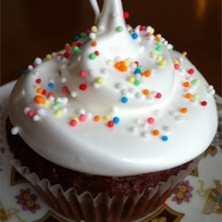 Fluffy White Frosting Recipe - This is the type of frosting that is cooked over the stove, then whipped. This goes well on almost any type of cake.