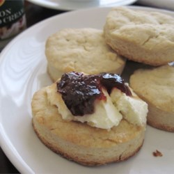 Cream Scones Recipe - Scones are a kind of sweet biscuit. They are very common in the United Kingdom. Here is a pretty good recipe that I made after a lot of trial and error. These are quite easy. You can add a bit more sugar if you want. These taste awesome with grape or blackberry jelly!