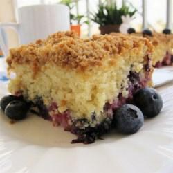 Buttermilk Mango Berry Crumb Cake