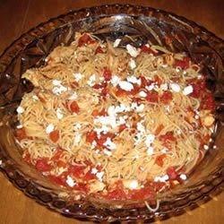Caliornia Chicken Spaghetti