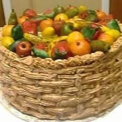 'Full of Fruit' Basket Cake