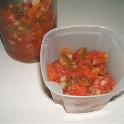 Fast and Simple Salsa Recipe - This simple salsa recipe calls for nothing more than tomatoes, onion, green chile peppers, vinegar, and salt.