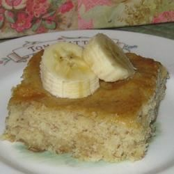 Picnic Cake Recipe - Marshmallows rise to the top of this easy banana cake while it bakes to form a yummy topping.