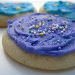 No Roll Sugar Cookies Recipe - Easy to make and no fuss with rolling them out, plus they have that delightful melt-in-your-mouth texture.