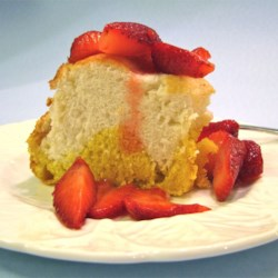 Two Part Angel Cake Recipe - This is a recipe from my grandmother's recipe collection.
