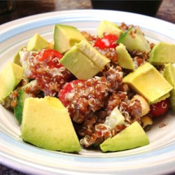how to make fluffy red quinoa