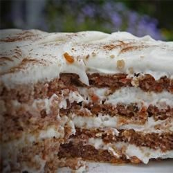 Carrot Cake Recipe - This recipe makes a fabulous and moist carrot cake. Try it for Thanksgiving instead of or in addition to pumpkin pie.