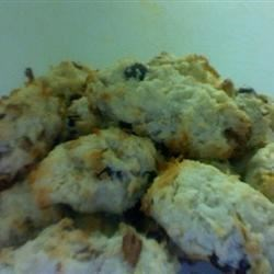 Coconut Raisin Cookies Recipe - Velvety shortbread cookies with coconut and raisins. Pecans also taste great in these cookies.