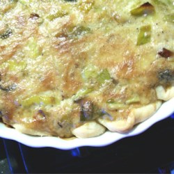 French Leek Pie Recipe - This leek pie is super rich and creamy with Gruyere cheese and cream. Great as a starter or with a salad as a main dish.