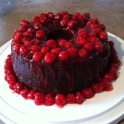 Cherry Chocolate Cake Recipe - Very moist and rich. A favorite of my two grown sons. It keeps very well.