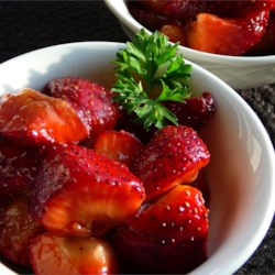 Sweet and Tart Strawberry Salad Recipe - First the fresh berries are tossed in brown sugar and then they 're sprinkled with balsamic vinegar and black pepper. Trust us, you will absolutely love it. An amazing taste treat for four.