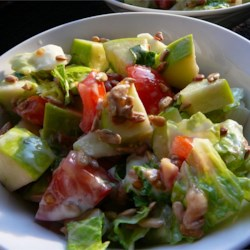 Apple and Sunflower Seed Salad Recipe - This sour apple salad is both nutritious and delicious - it contains fruit, vegetables and seeds.  You can use any type of dressing and lettuce in this recipe.