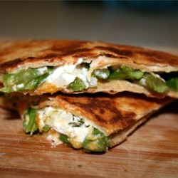 Asparagus and Goat Cheese Quesadillas Recipe - Easy and elegant quesadillas made with fresh asparagus and soft goat cheese. A royal combination of flavors for that Southwestern fix. Perfect for family meals and fancy enough for guests. Delicious!