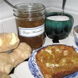 Ginger Marmalade Recipe - Homemade ginger marmalade is just the thing for spreading on toast or a crepe -- or to serve with savory dishes like ham, roast chicken, turkey, or lamb.