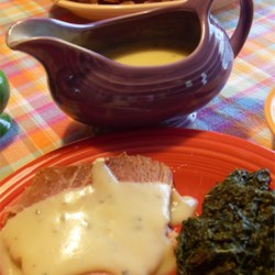 Mustard Sauce for Ham Recipe - This sweet mustard sauce is fabulous!  Easy enough for any night of the week.  GREAT on baked ham or even chicken strips.