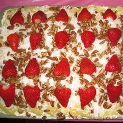 Yum Yum Cake III Recipe - Easy and delicious sheet cake with cream cheese, pudding and pineapple.