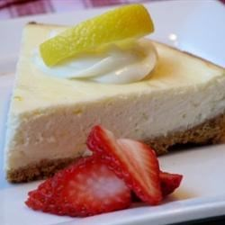 Creamy Cheesecake Recipe - This cheesecake is creamier than most cheesecakes, and very easy to make. Use grated lemon zest or 1 teaspoon lemon extract for flavoring.