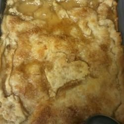 My 6 yr old daughter's finished Peach Cobbler