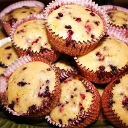 Huckleberry Muffins Recipe - Huckleberries are a hard-to-find, delicious treat and finding recipes that use them can be even harder. I came up with this recipe as a variation of my favorite blueberry muffin recipe and they truly are delicious! If you can't find huckleberries, blueberries work well.