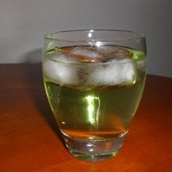 Fricken Yummy Recipe - A wonderfully refreshing drink made with apple and peach schnapps, and lemon-lime soda.