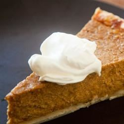 Killer Pumpkin Pie Recipe - A pressed crust mixed in the pan makes this dairy-free, soy-free pumpkin pie a snap to prepare.