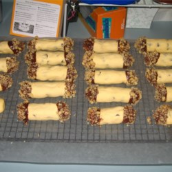 Chocolate Chip Shortbread Cookie Logs