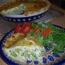 Broccoli and Provolone Quiche Recipe - This quiche is packed with broccoli and oozing with Provolone!