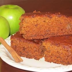 Throw it Together Cake Recipe - A moist apple cake with spices and nuts. This will warm you up on a cold day.