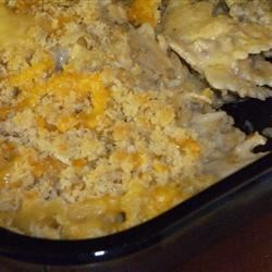 Philly Cheesesteak Casserole Recipe - The taste of this casserole is reminiscent of a good Philly cheesesteak.  Even though it goes against my normal condiment rules, ketchup is a must alongside.  Not exactly low in fat, but neither is it's namesake.