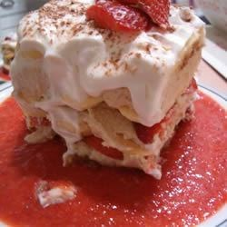 Strawberry Tiramisu for Two