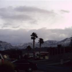 Snow on our mountains...Rare for sure!