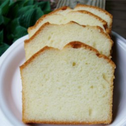 Grandmother's Pound Cake II Recipe - This recipe is over 100 years old and is the original kind of pound cake: it contains 1 pound each of butter, sugar, eggs and flour and contains no salt, baking powder or flavoring (but flavoring such as vanilla extract or almond extract can be added if desired!)