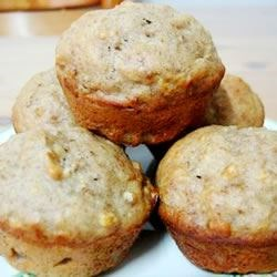 Choice Apple and Banana Muffins Recipe - This is an excellent recipe where no butter, oil or any type of fat is added.  It is not to dry and not too moist.