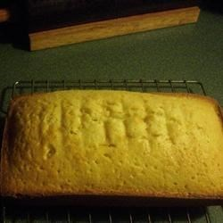 Buttermilk Pound Cake I Recipe - Buttermilk gives this recipe for a moist pound cake a nice bit of tanginess to complement the lemon extract.