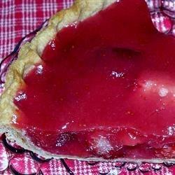 Fresh Strawberry Pie with Orange Liqueur Glaze Recipe - Orange liqueur is combined with fresh strawberry puree to make the silky glaze in this gorgeous, summery pie.