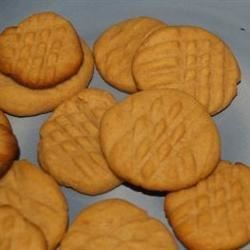 Elaine's Peanut Butter Cookies Recipe - This is a quick recipe for cookies when you are in a crunch for time and need to have something for the dessert platter now!  These are very soft and taste great.  I have yet to have anyone toss these cookies back on my platter.