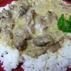 Venison Stroganoff Recipe - This classic dish gets a venison variation - egg noodles, sour cream, mushroom soup, onion and browned venison all stirred into a creamy concoction.
