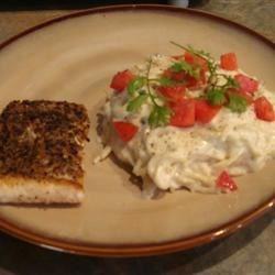 Skoo's recipe: Cheater's Fancy Smoked Salmon Fettucini