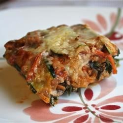 No-Noodle Zucchini Lasagna Recipe and Video - Thin slices of zucchini stand in for noodles in this lasagna. It is perfect in the summer with your garden-fresh veggies and herbs, or in the winter when you need a comforting meal.