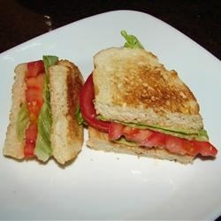 Quick Tomato Sandwich Recipe - A simple recipe which is a breeze to prepare.