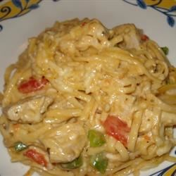 Chicken Spaghetti Casserole I Recipe - For some reason or another, this seems to be a favorite of the men in my family.