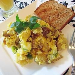 Leftover Baked Potato Scramble