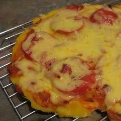 Pepperoni Polenta Pizza