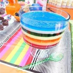 Rainbow Salad gelatin