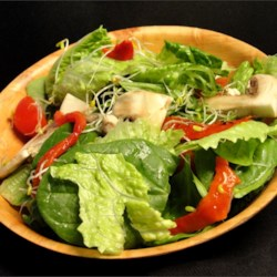 Spring Delight Salad Recipe - This is a very elegant looking but extremely easy to make salad. Beautiful colors.