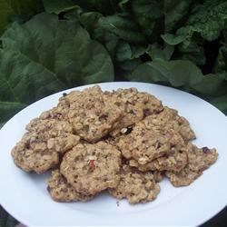 Rhubarb Drop Cookies Recipe - Fresh rhubarb add a deliciously tangy flavor to these simple drop cookies.