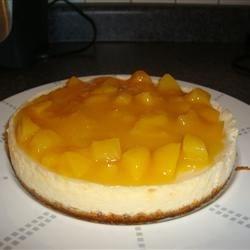 mango-peach cheesecake
