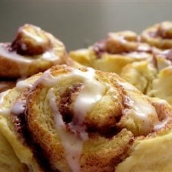 Glazed Cinnamon Biscuits