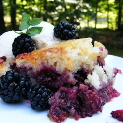 Baron's Blackberry Cobbler Recipe - A vanilla batter brings out the taste of summertime in this cobbler recipe.